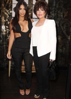 Kim Kardashian: Cassandra Huysentruyt Grey Hosts Artist -05