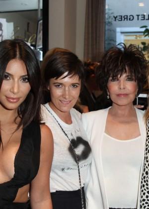 Kim Kardashian: Cassandra Huysentruyt Grey Hosts Artist -07
