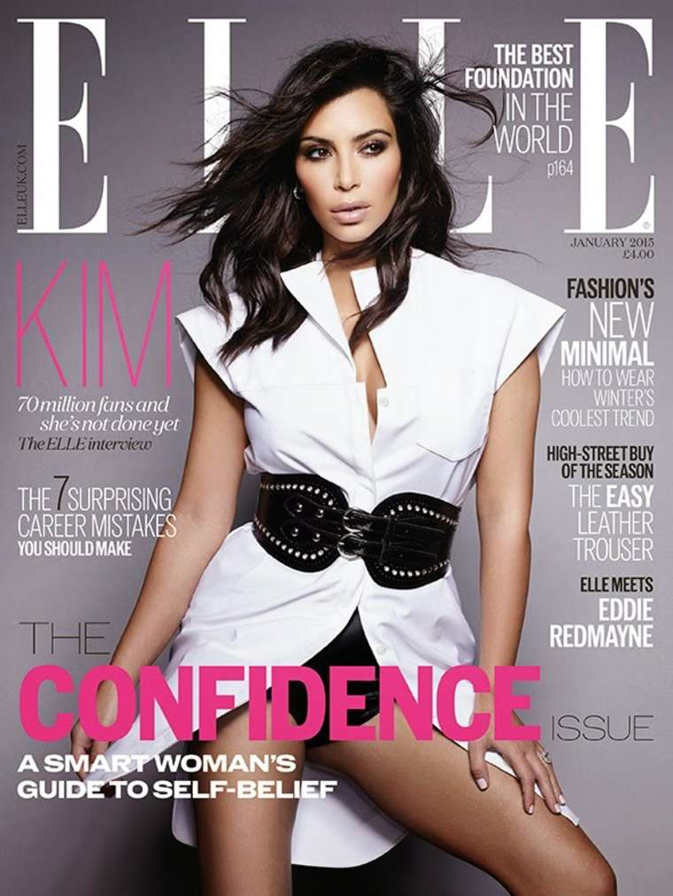 Kim Kardashian - ELLE UK Magazine Cover (January 2015)