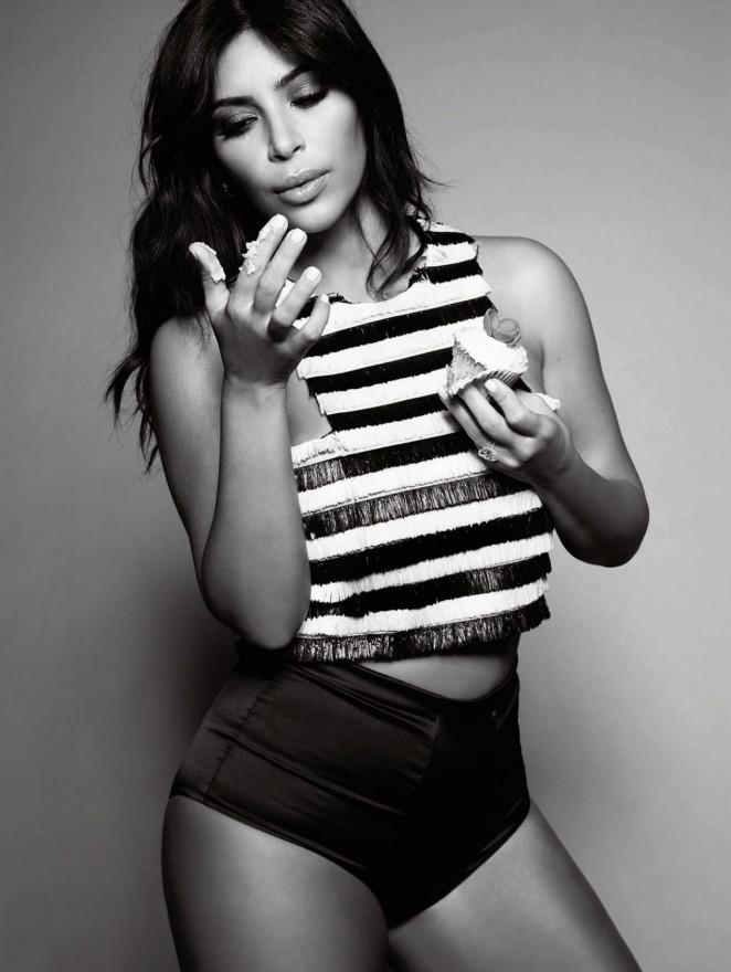 Kim Kardashian – Elle UK Magazine (January 2015)