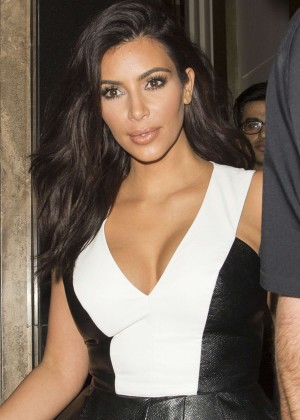 Kim Kardashian in Black Tight Dress at GENETIC X Liberty Ross Launch Event in London