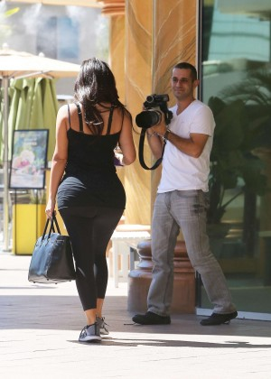 Kim Kardashian at gym in Calabasas -04