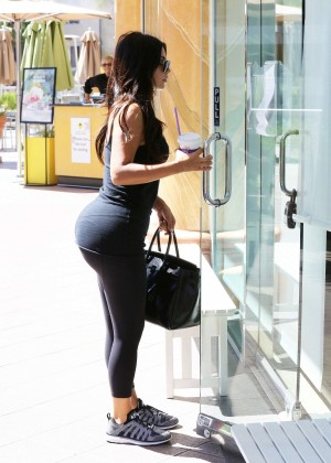 Kim Kardashian at gym in Calabasas -17