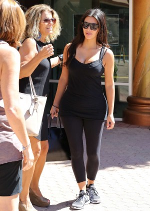 Kim Kardashian at gym in Calabasas -27