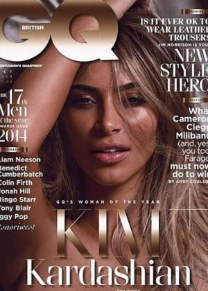 Kim Kardashian - GQ British Magazine Cover (October 2014)