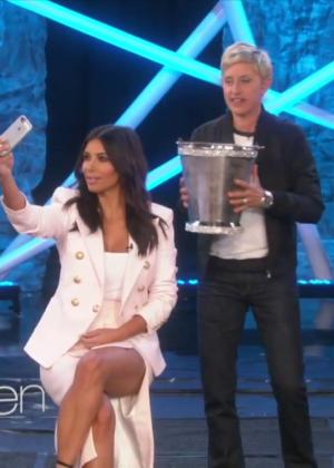 Kim Kardashian: Ice Bucket Challenge on Ellen -04