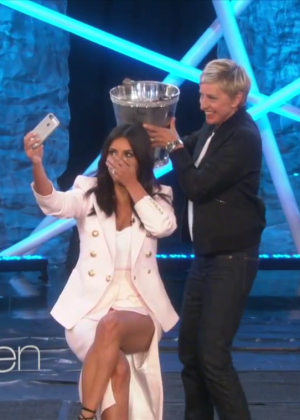 Kim Kardashian: Ice Bucket Challenge on Ellen -06