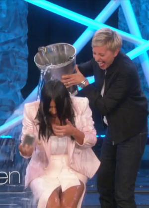 Kim Kardashian: Ice Bucket Challenge on Ellen -11