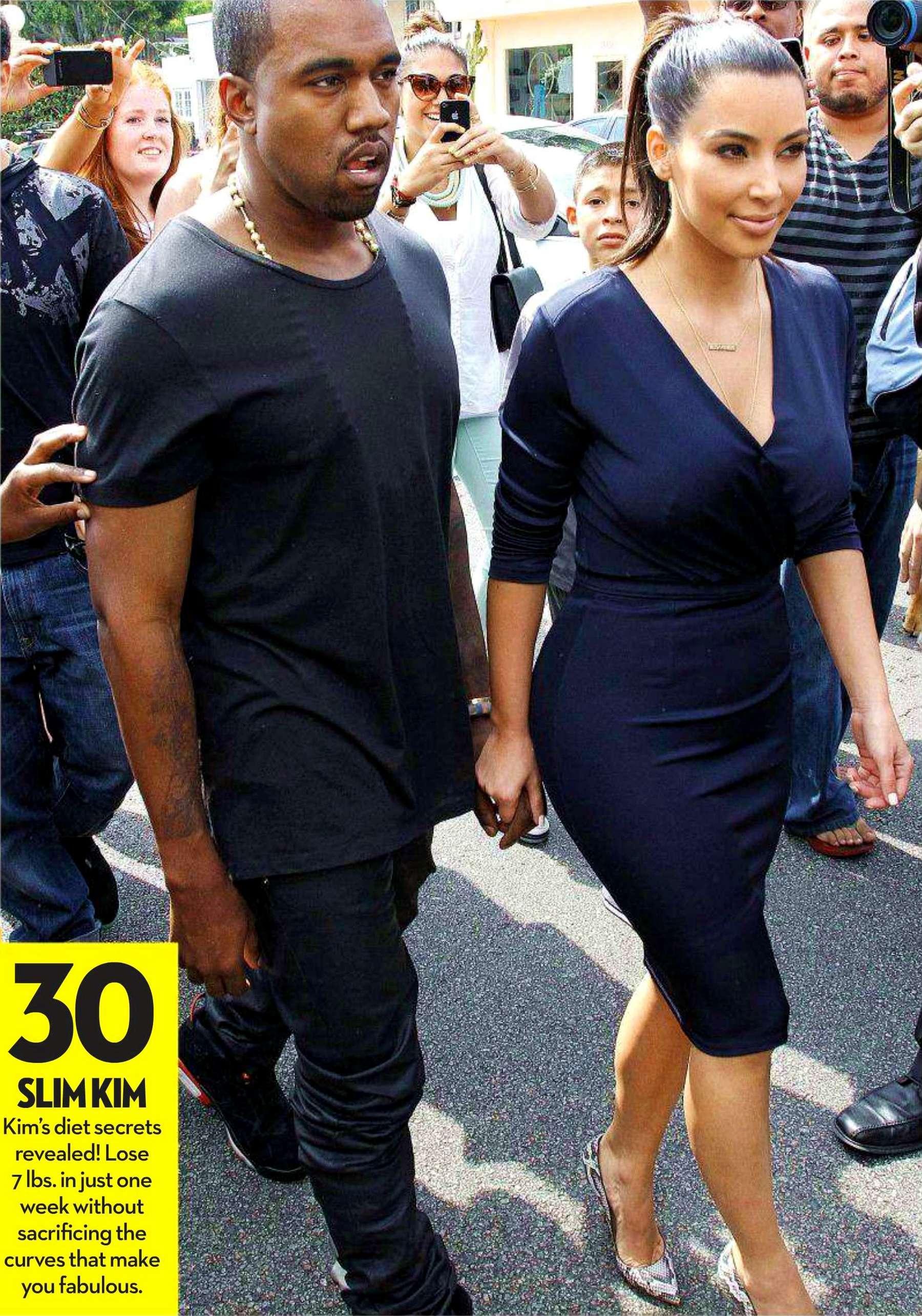 Kim Kardashian 2012 : kim-kardashian-in-ok-magazine-cover-august-2012-01