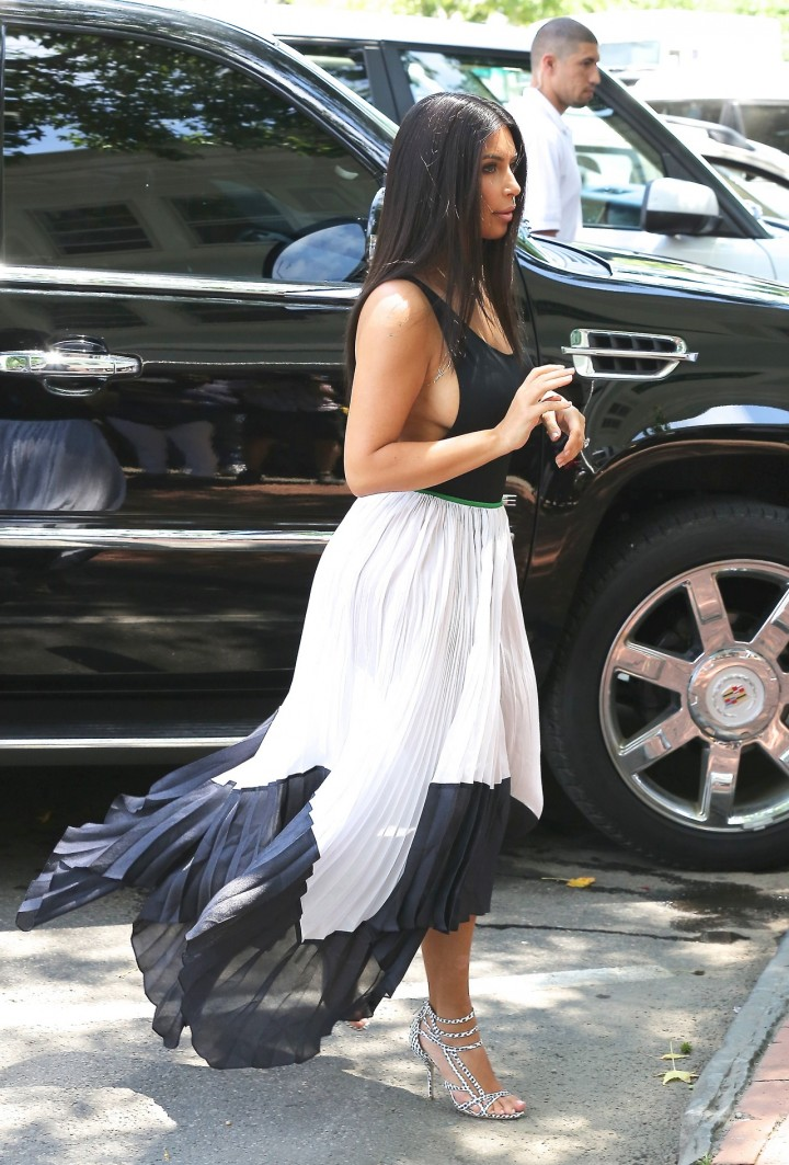 Kim Kardashian in South Hampton -01