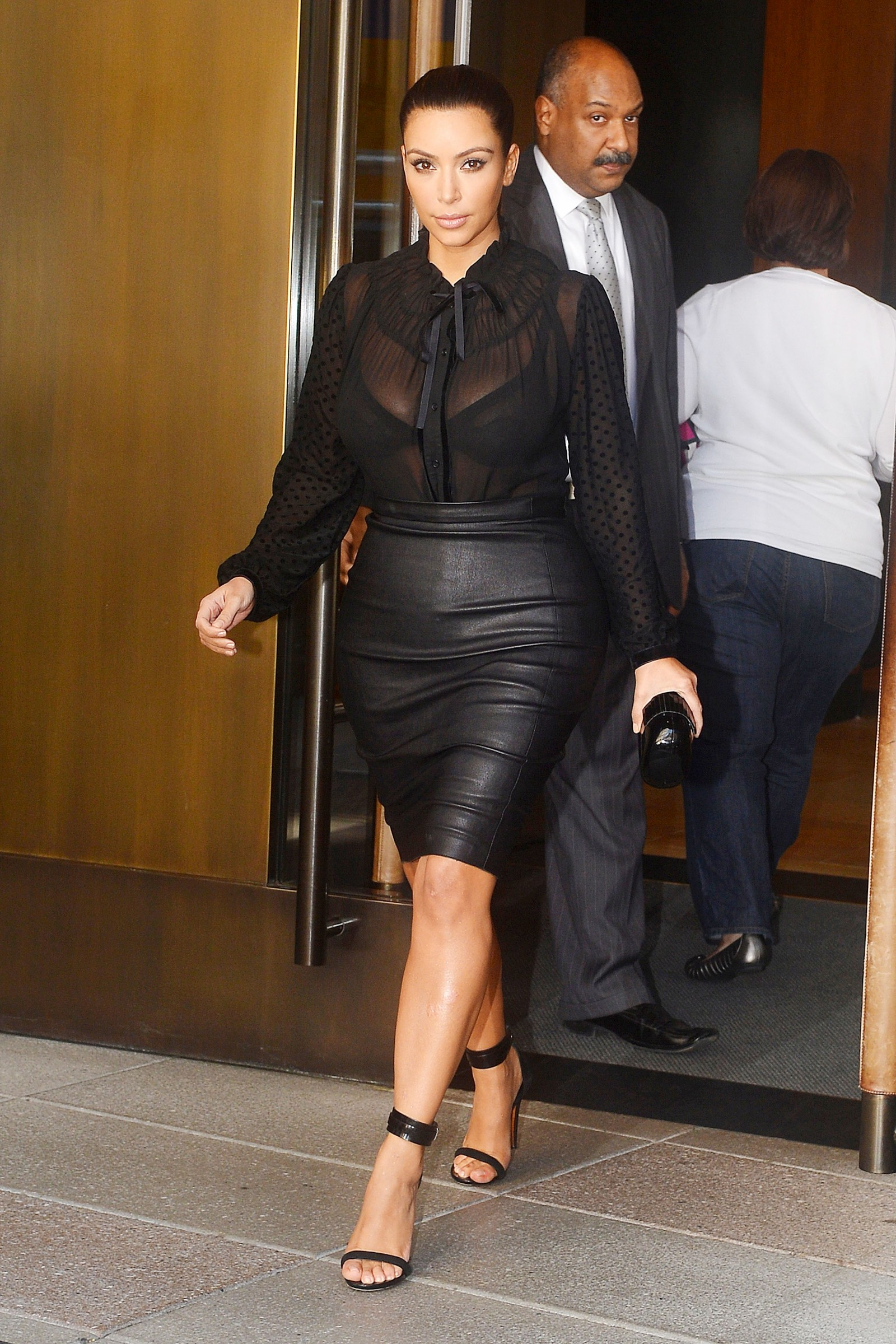 in tight leather skirt 04 gotceleb