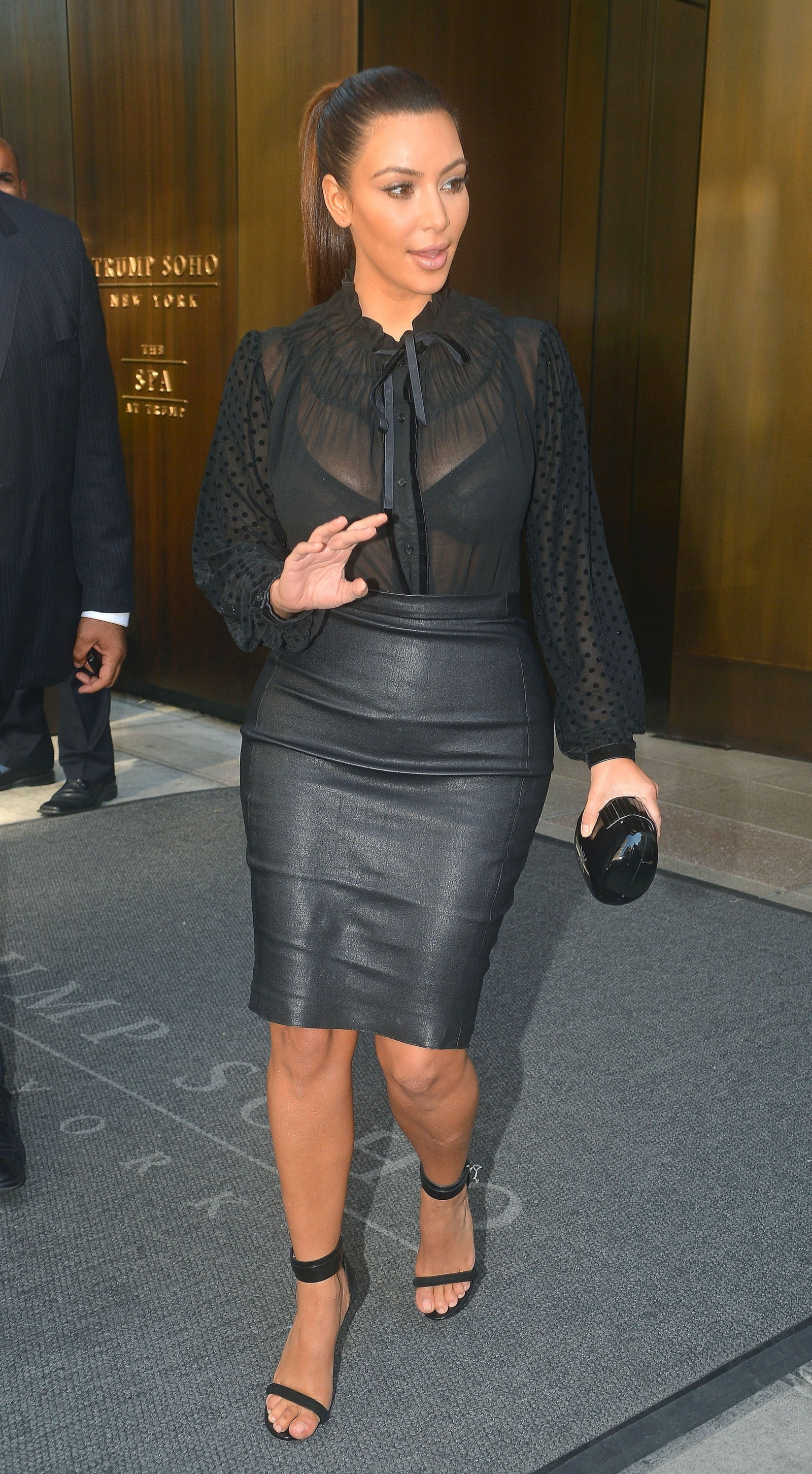 Kim Kardashian - In Tight Leather Skirt-06 - GotCeleb