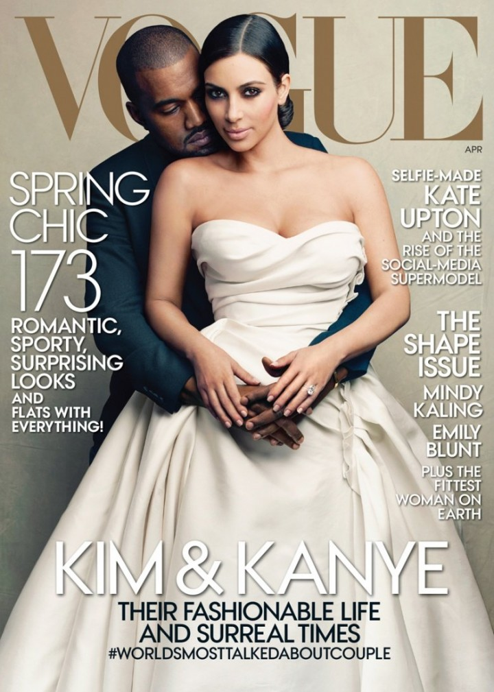 Kim Kardashian & Kanye West – Vogue US Magazine Cover (April 2014)