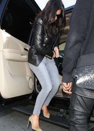 Kim Kardashian in Tight jeans at LAX Airport in LA