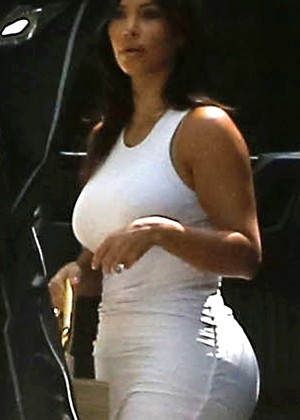 Kim Kardashian leaving a birthday party in Beverly Hills