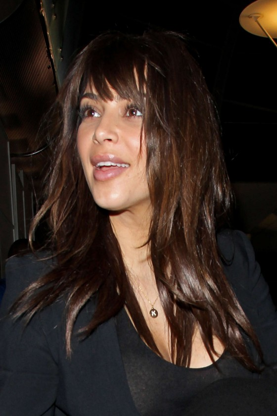Kim Kardashian - New Haircut -02 - GotCeleb