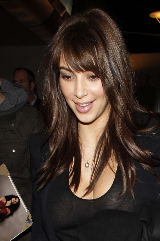 Recent Hair Cut : Kim Kardashian - New Haircut -08 - GotCeleb