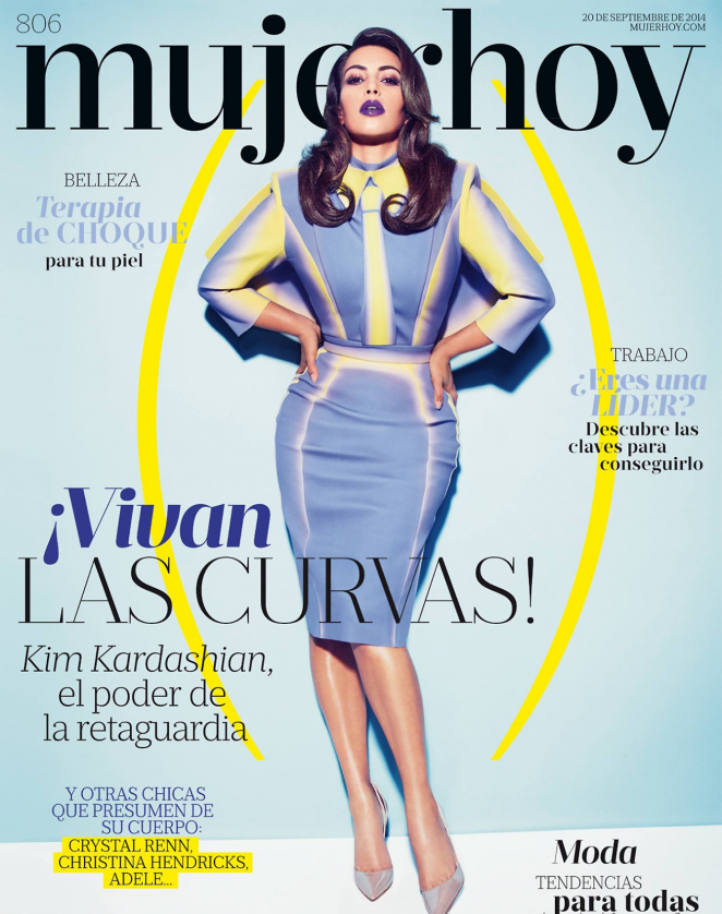 Kim Kardashian - Mujer Hoy Spain Magazine Cover (September 2014)