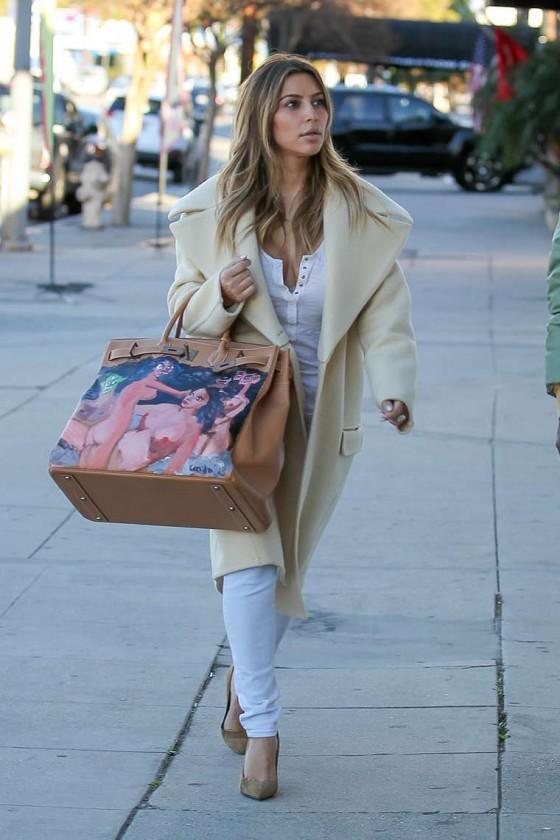 Kim Kardashian new handpainted Birkin bag -07