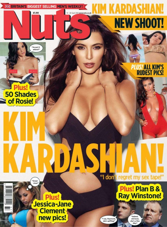 Kim Kardashian Photoshoot for Nuts Magazine Cover 2012