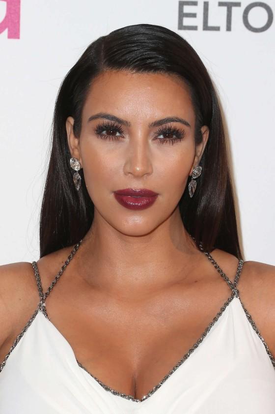 Kim Kardashian – 2013 Elton John AIDS Foundation Academy Awards Party -01