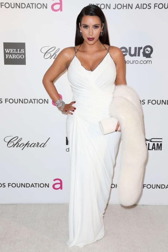 Kim Kardashian – 2013 Elton John AIDS Foundation Academy Awards Party -02