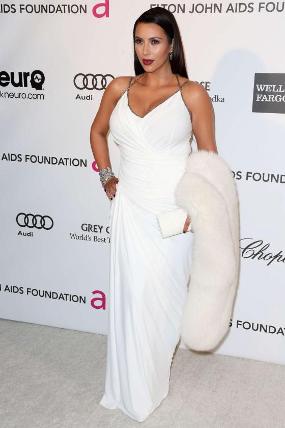 Kim Kardashian – 2013 Elton John AIDS Foundation Academy Awards Party -04
