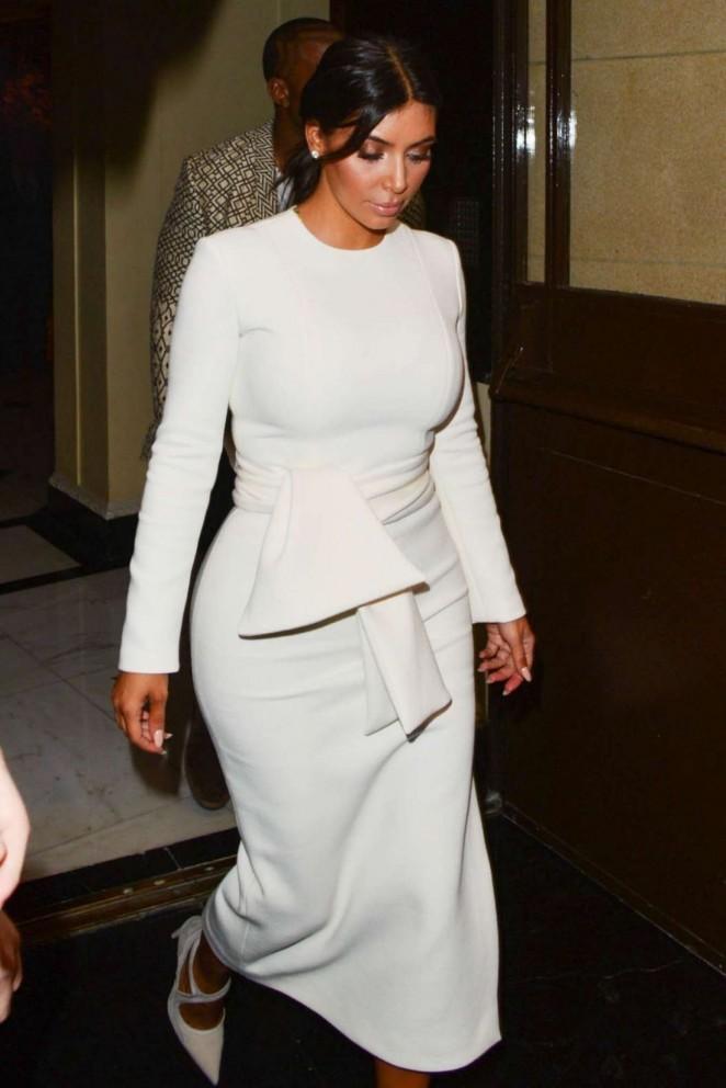 Kim Kardashian & Kanye West out for Dinner in London