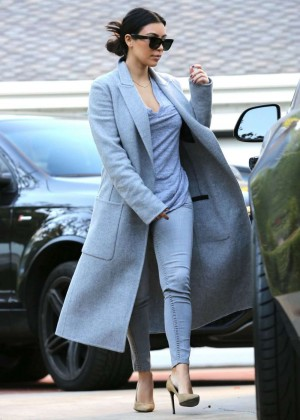 Kim Kardashian going to spa session in Beverly Hills Hotel
