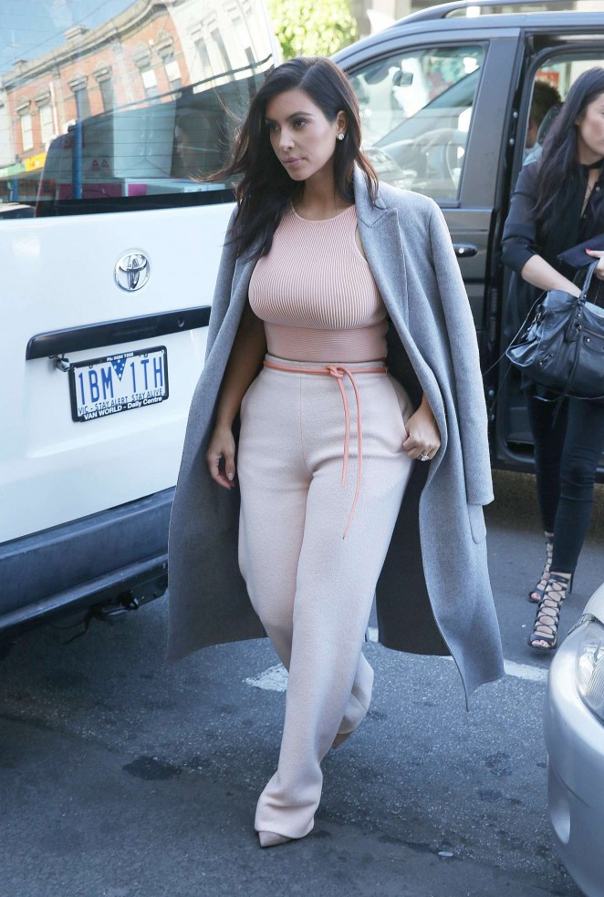 Kim Kardashian out in Melbourne
