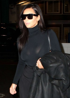 Kim Kardashian in Black out in New York