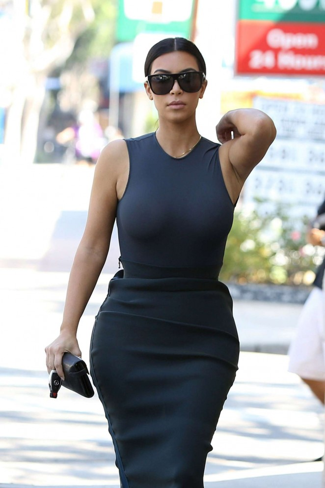 Kim Kardashian out shopping in Los Angeles