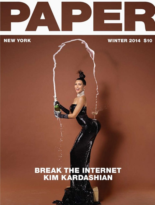 Kim Kardashian - Paper Magazine Cover (Winter 2014)