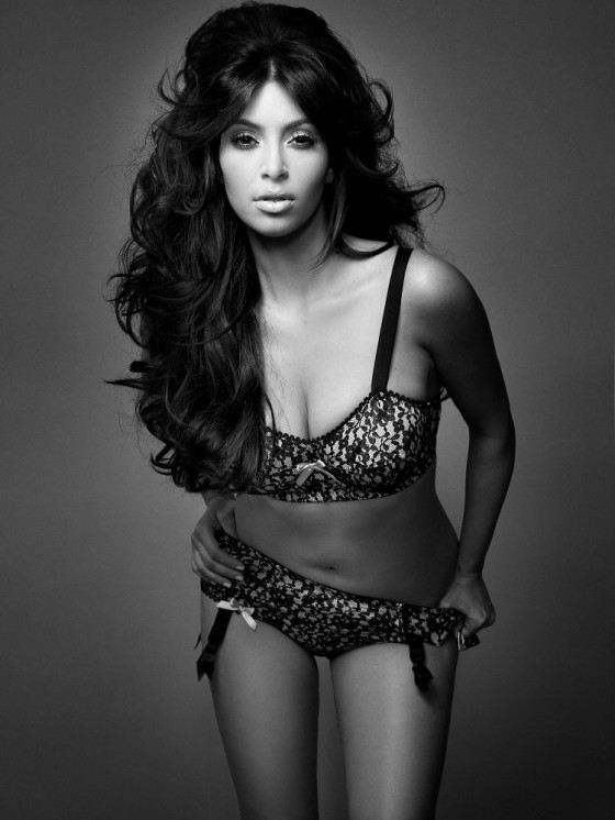 Kim Kardashian in lingerie Photoshoot By Davis Factor