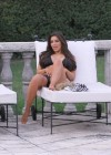 Kim Kardashian bikini at her friend Loren Ridingers mega mansion-04
