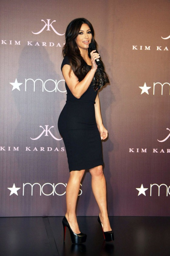 Kim Kardashian promoting her fragrance at Macy's in Glendale