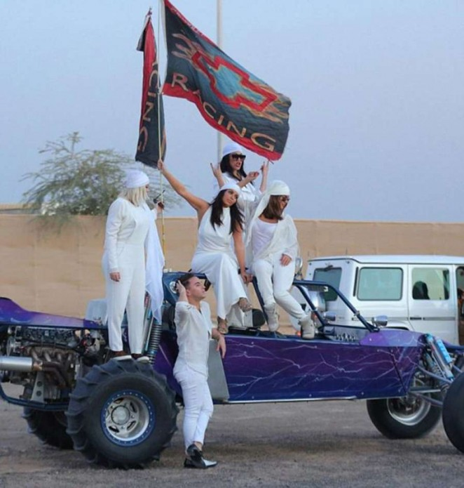 Kim Kardashian - Rides Dirty in the Dubai Desert on Dune Buggies