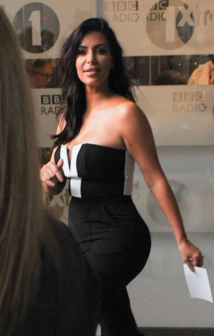 Kim Kardashian - Seen leaving BBC Radio1 in central London