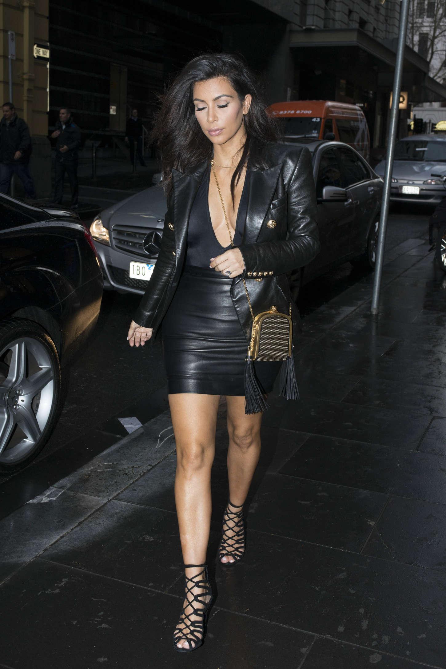 Kim Kardashian in Leather -13 | GotCeleb