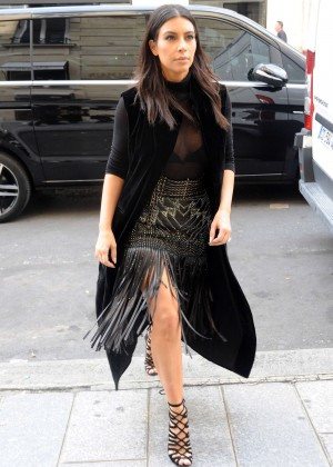 Kim Kardashian Street Styles - out in Paris