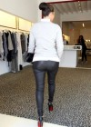 Kim Kardashian ,Leather Pants (Ass Shots Of Course) Shopping Candids