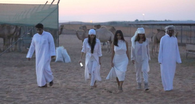 Kim k in dubai white dress