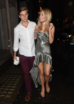 Kimberley Garner with boyfriend Arrives at The Arts Club in London