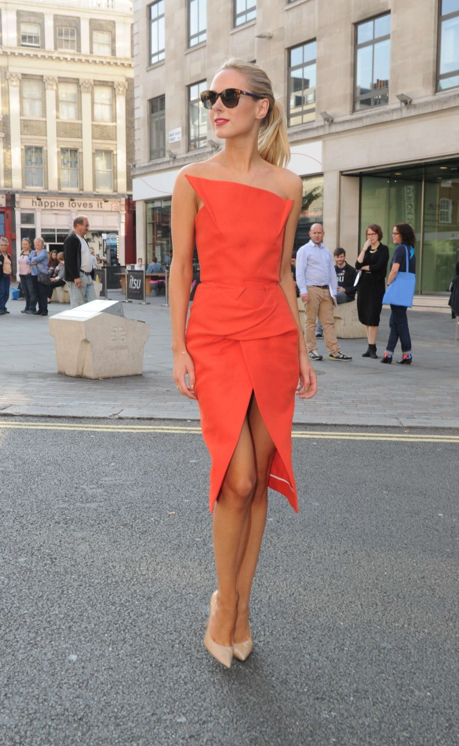 Kimberley Garner in Red Dress at Freemasons Hall for London Fashion Week 2014