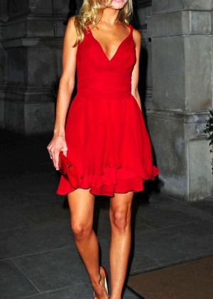 Kimberley Garner Hot in red dress at Langham Hotel -09