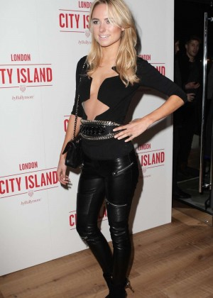 Kimberley Garner in Leather at Ballymore Launch Party
