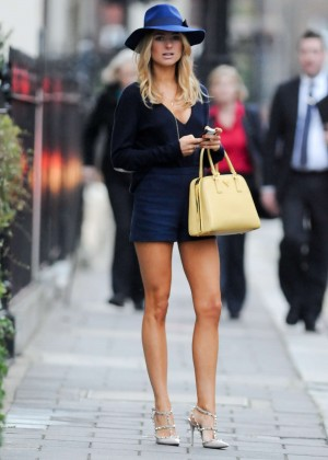 Kimberley Garner - Leggy in Shorts out in Mayfair