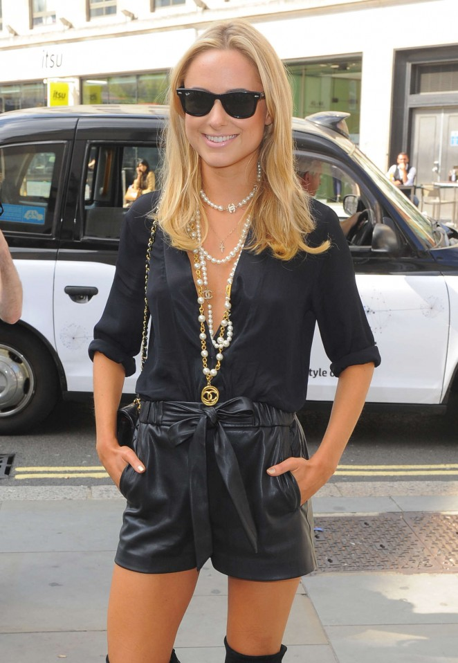 Kimberley Garner at Somerset House for London Fashion Week