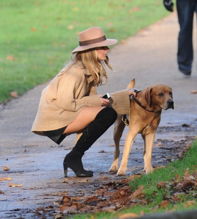 Kimberley Garner – Walking her dog in London