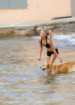 Kimberley Garner Bikini Workout: in Saint-Tropez -09